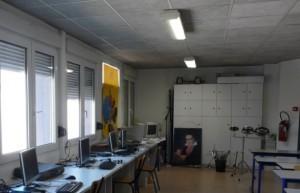 La salle d'Education musicale du collège A.Rimbaud de BELFORT