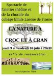 spectacle la nature à croc et à cran